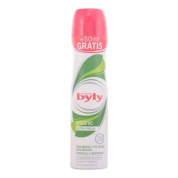 Spray Deodorant Organic Extra Fresh Byly (200 Ml)