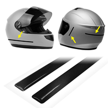 Adhesive strips 3D reflective for motorcycle helmet, black, 1x30 cm