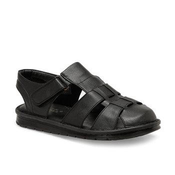 FLO 103 C czarne męskie sandały Flexall tanie i dobre opinie Sztuczna skóra