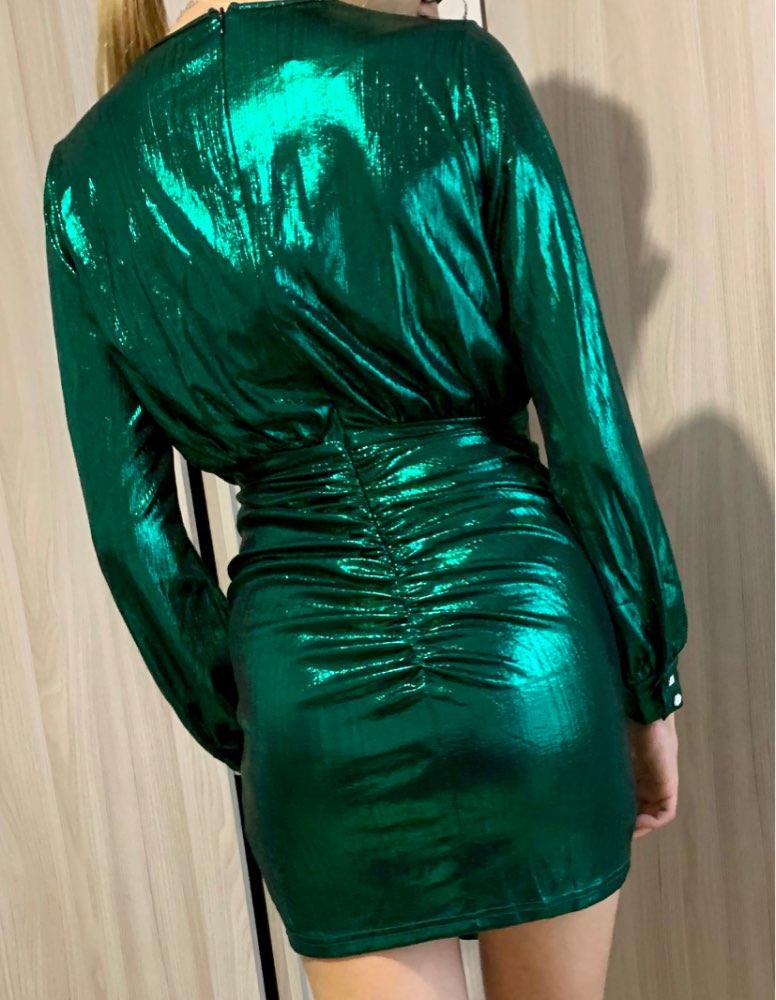 Slaygirl Wrap Bandage Bodycon Dress Women Sexy Party Dresses Elegant Deep V Neck Mini Autumn Spring Dress Vestidos photo review