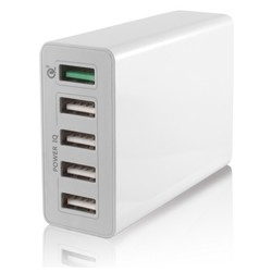 Usb Wall Charger Ksix 5 Usb 10a Wit
