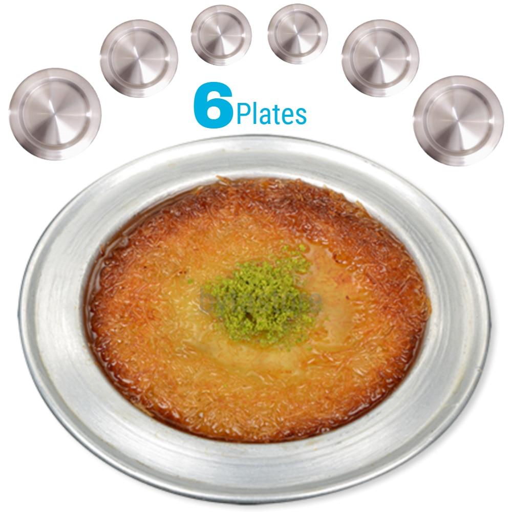 Plateau de Service en aluminium d'origine Kunefe lot de 6 assiettes de Service plat pour présentation Baklava Kadaif Hatay Antakya Gaziantep
