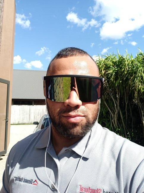 Oversized Mask Shaped Sport Sunglasses photo review