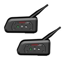 2 adet WAYXIN motosiklet interkom 1200M kask Bluetooth interkom Moto Bluetooth interkom 6 bisikletçi kablosuz Bluetooth kulaklık