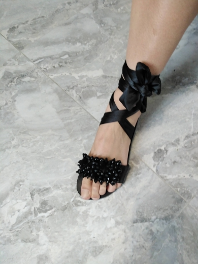Women Flat Sandals Ankle Strap photo review