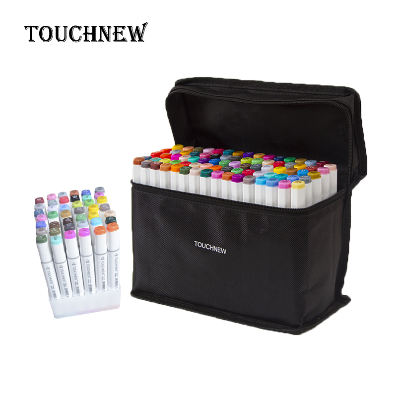 Touchnew 30/40/60/80/168 Colors Art Sketch Markers For Drawing Painting Set Twin Marker Alcohol Ink Manga School Art Supplies