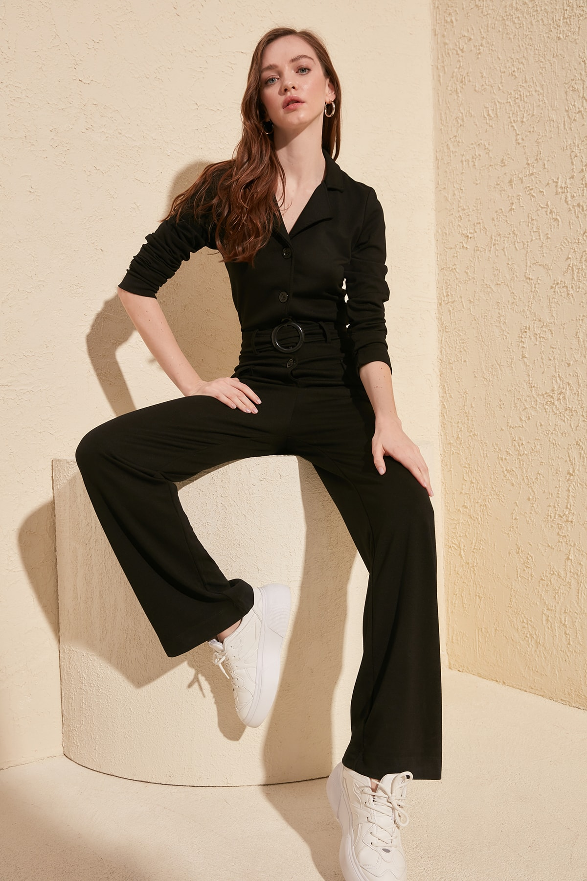 Trendyol Arched Knitted Jumpsuit TWOSS20TU0035