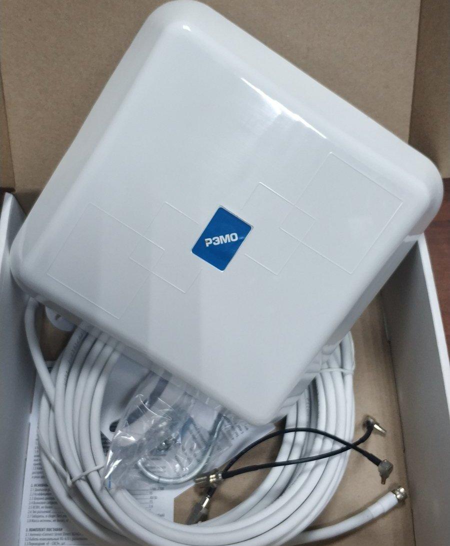 3G,4G антена усилитель интернета «BAS-2325 CONNECT STREET DIRECT 3G/4G MIMO» c кабелем 2х5м и 2 CRC9-F