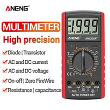 цена на AN9205A AC DC Digital Multimeter Professional Tester LCD Display 1999 Counts Current Voltage Capacitance Measuring Meter