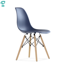 95757 Barneo N-12 Plastic Wood Kitchen Breakfast Interior Stool Bar Chair Kitchen Furniture navy-blue free shipping in Russia