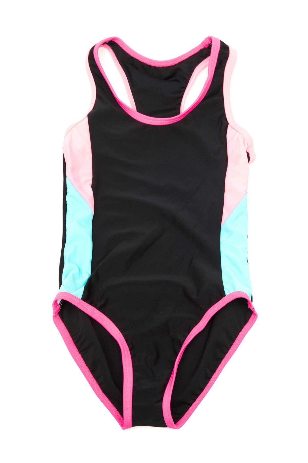 DeFacto Girl Woven Swimsuit Kids One-piece Bikini Casual Comfortable Monkini Casual Summer Black - I3059A618SM