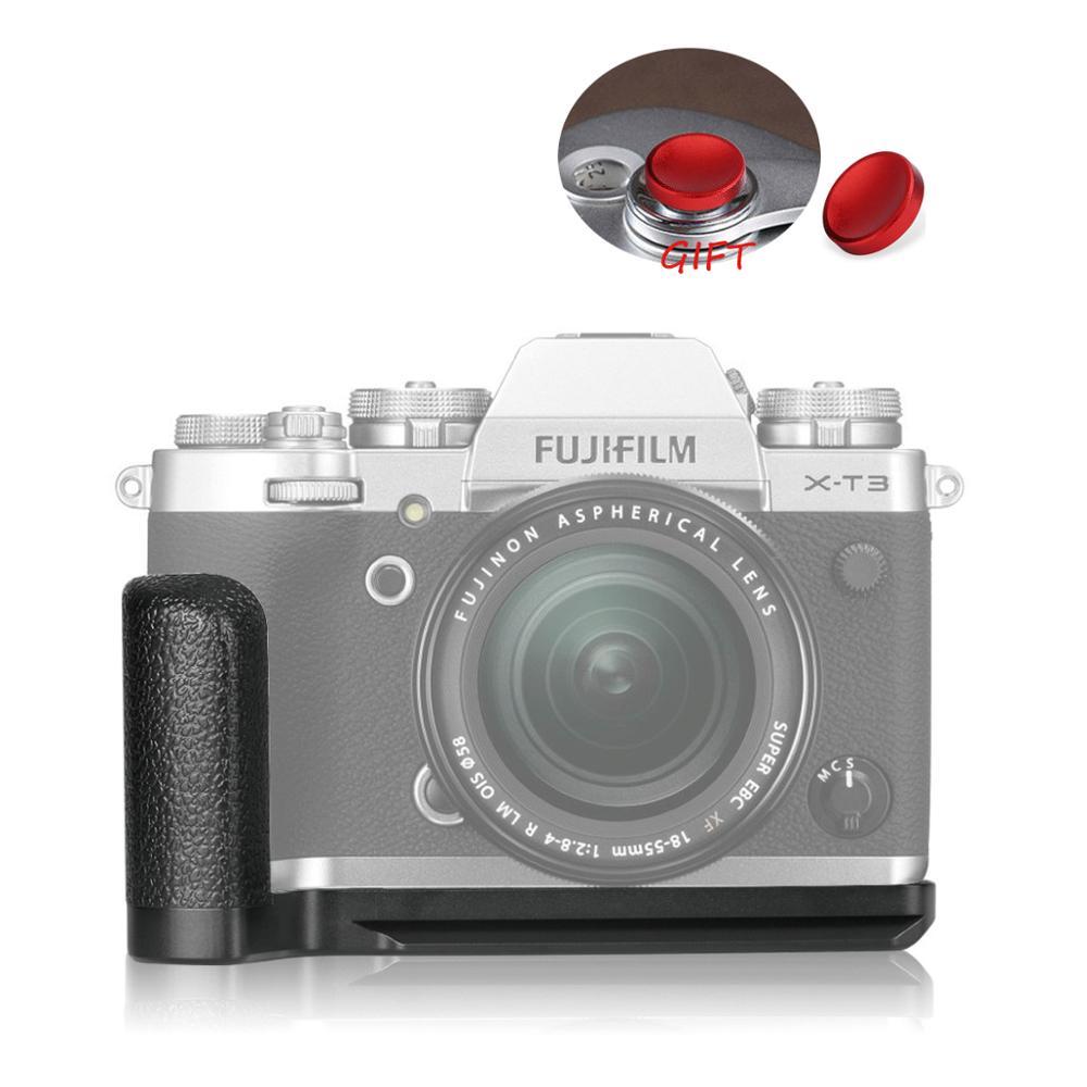 Meike MK-XT3G poignée en alliage d'aluminium plaque de fixation rapide L support pour appareil photo Fujifilm Fuji X-T3 XT3 comme MHG-XT3
