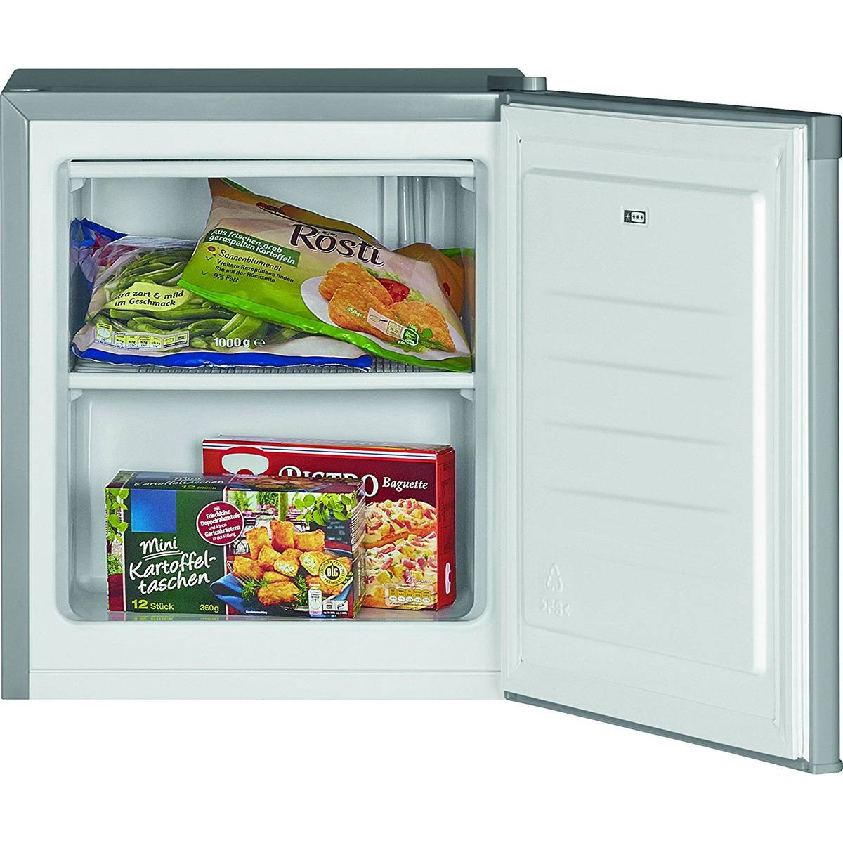 Bomann Hard GB 388 Freezer Vertical Independent Petty Drawers Capacity 30 Liters Gate Reversible Silver A + +