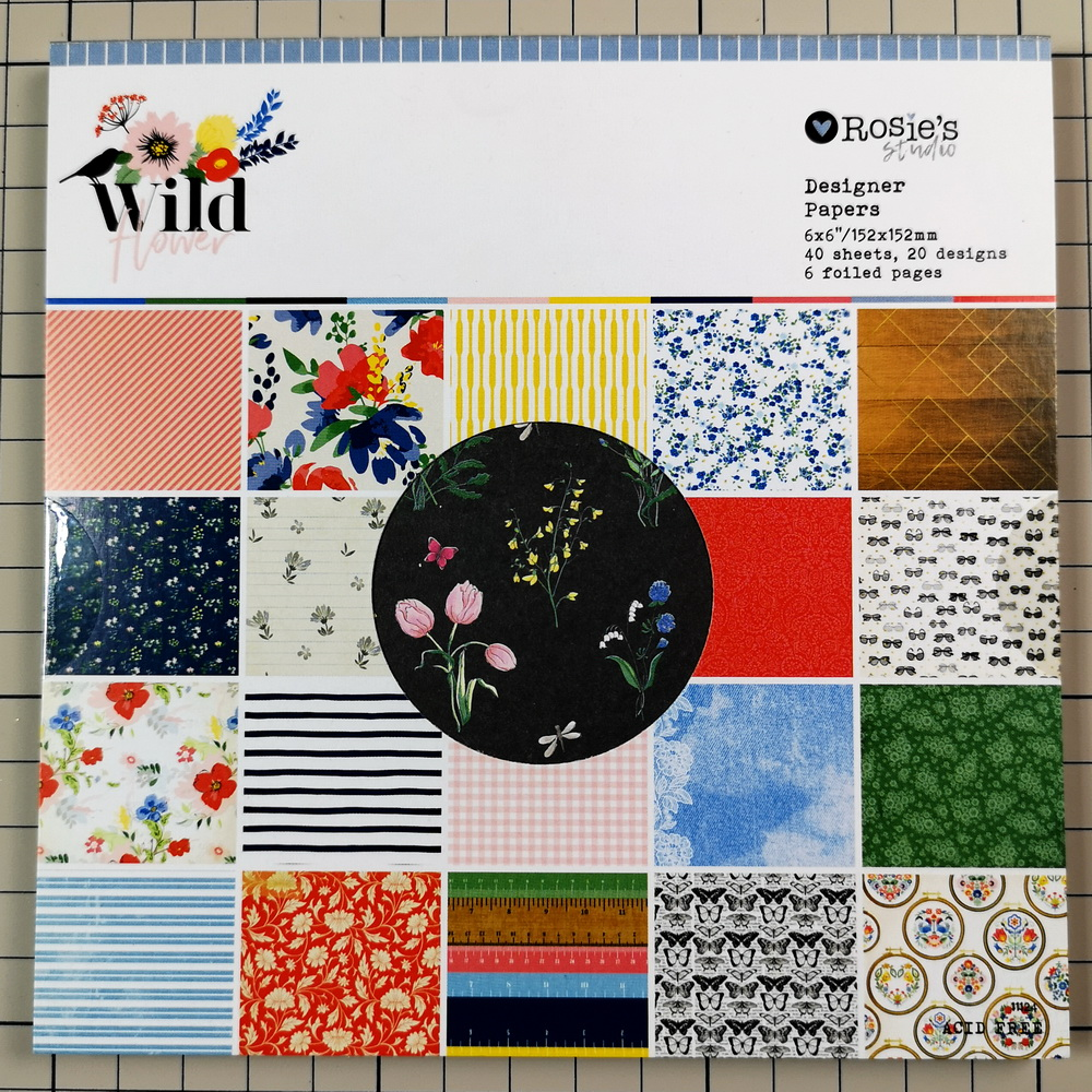 CRZCrafter 152x152mm 6 Inch Scrapbooking Paper Pad 40 Sheets Craft Paper Background Pack Acid Free