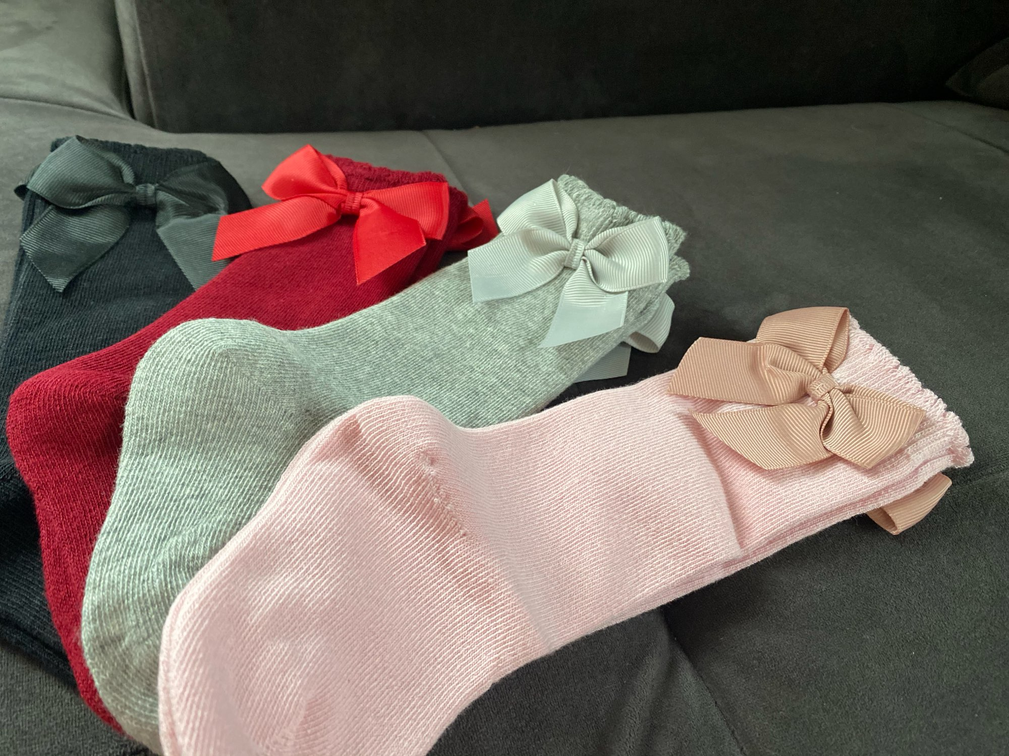 2020 Kids Socks Toddlers Girls Big Bow Knee High Quality Long Soft 100% Cotton Lace Baby Tube Sock Calcetines photo review