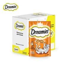 Лакомство для кошек Dreamies подушечки с курицей, 6 шт по 60г