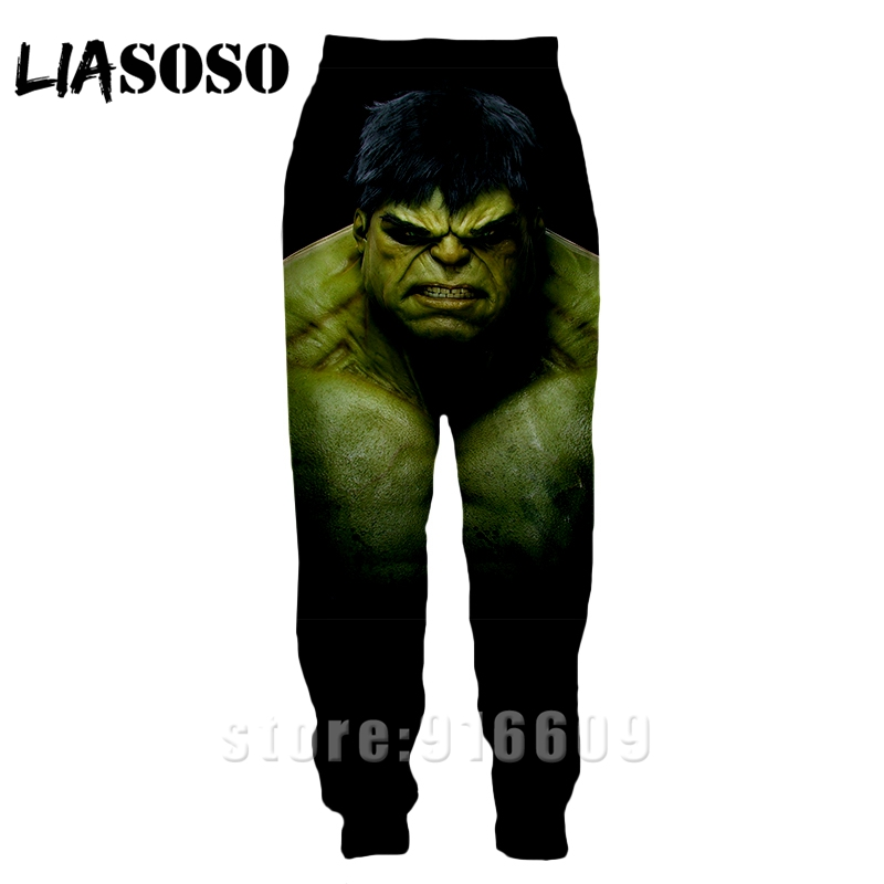 3d Print Men Women Full Length Jogger Kids Sweatpant Winter Logo Pants Hulk Anime Avengers Casual Funny Top Sports Trousers A368