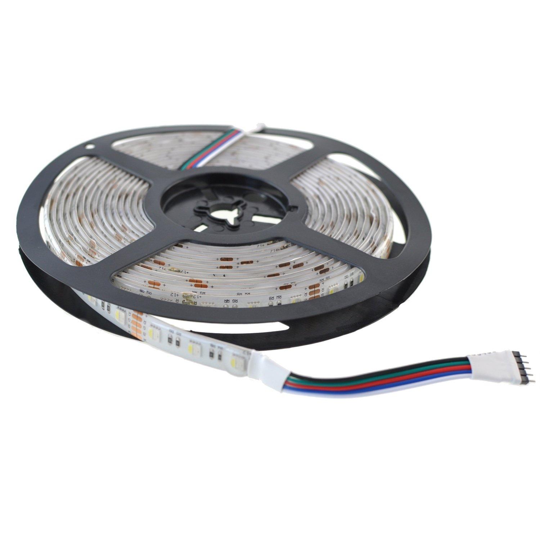 RGBW LED Strip 12V DC SMD5050 30LED/m 5 meters IP67 1 3 ccd surveillance security camera with 48 led ir night vision black dc 12v