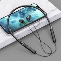Auriculares inalámbricos con Bluetooth 5,2, cascos magnéticos estéreo con banda para el cuello, a prueba de agua, deportivos, para correr, compatible con tarjeta de memoria