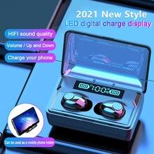 FANGTUOSI New TWS Bluetooth 5.0 Earphones 2200mAh Charging Box Wireless Headphone 9D Stereo Sports Waterproof Earbuds Headsets