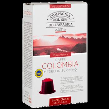 Coffee capsules Nespresso®Compagnia dell'arabica Colombia Medellin supremo 52g (10x5.2g)