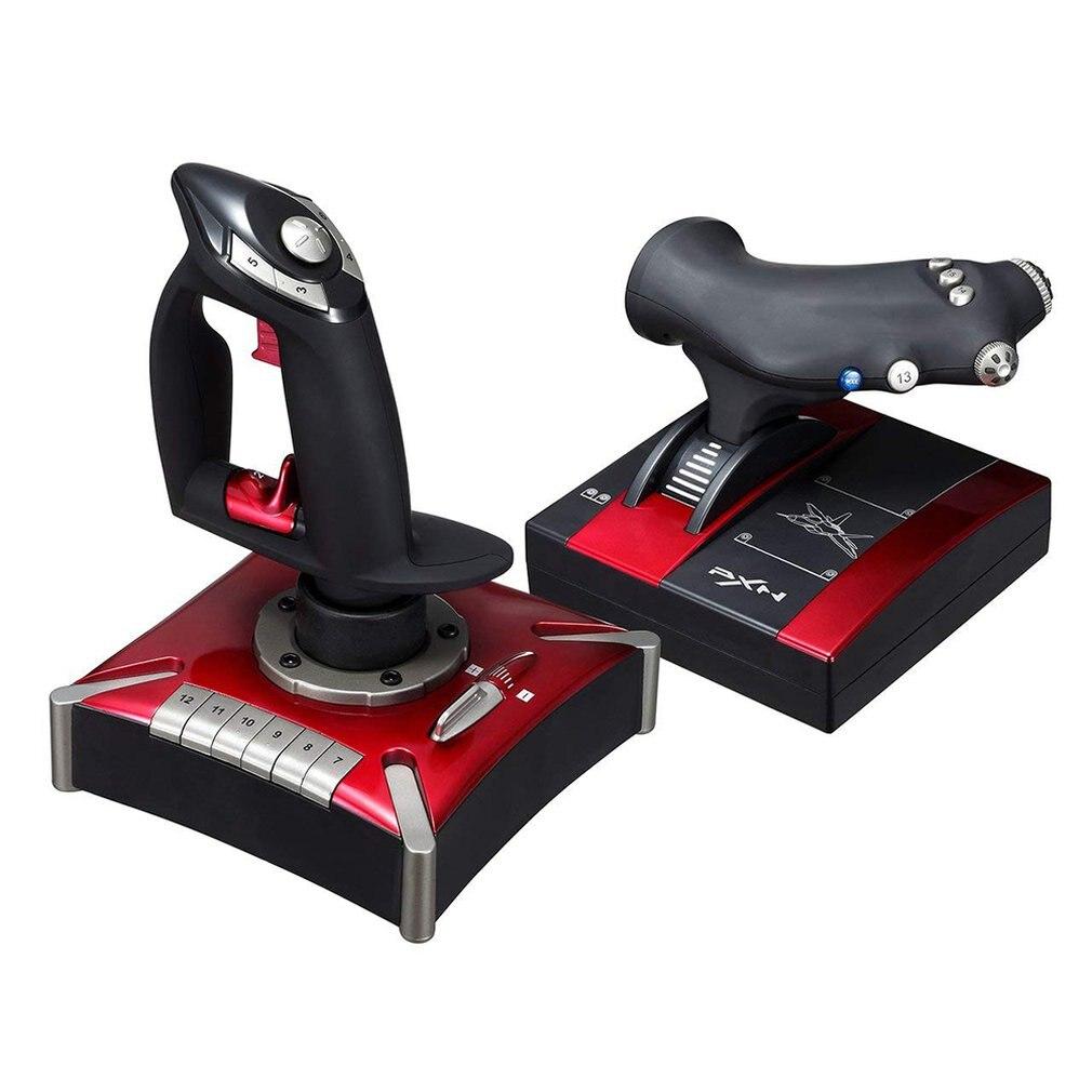PXN-2119 полета USB геймпад для симуляторов джойстик для ПК/настольный моделирование воздушное судно вибрации игровой контроллер аксессуары
