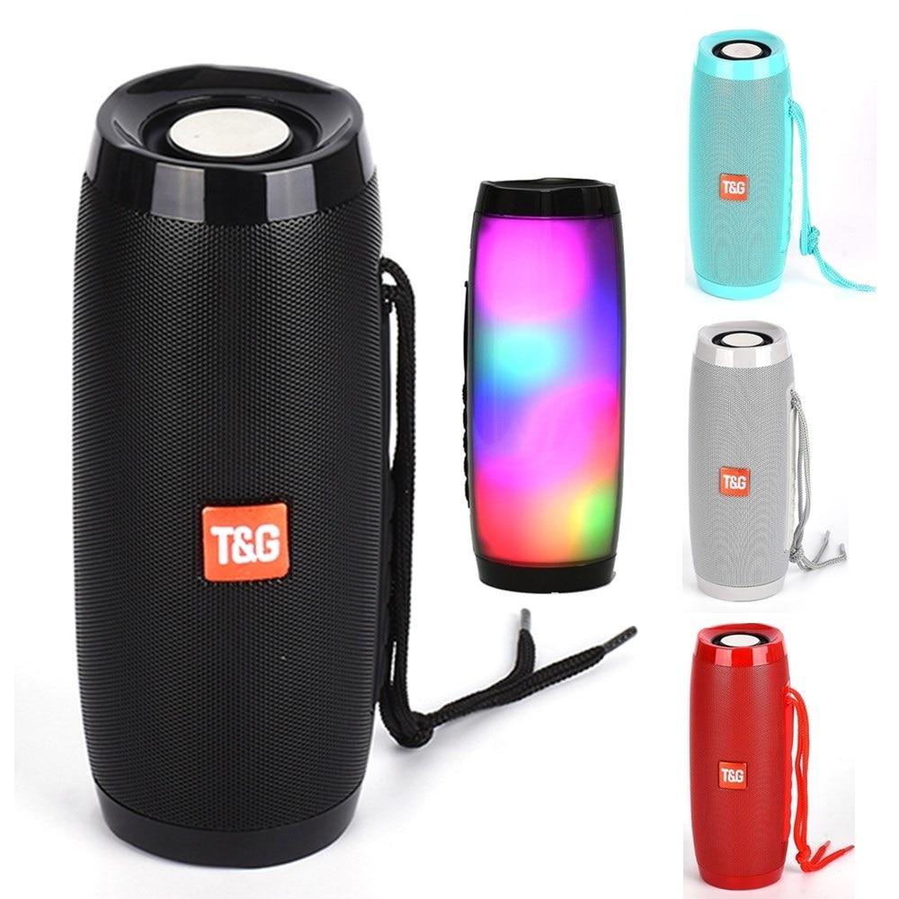 LED Portable Bluetooth Speaker Column Wireless Speaker BoomBox Outdoor Strong Bass Stereo HIFI TF FM Radio