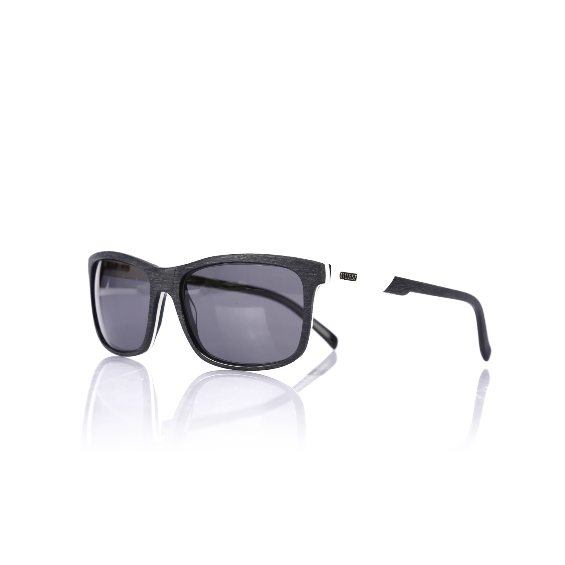 Men's sunglasses gu 1845 blkwht bone black organic square square 56-16-145 guess