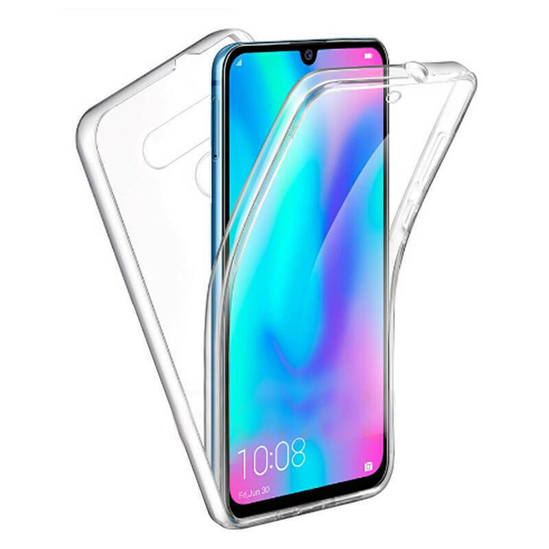 Stand Case Double 360 ° For LG Q60 Front + Back Clear