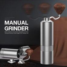 Moedor de café mini rebarbas de aço inoxidável-mão cnc manual moedor de café máquina de rebarbas moedores de café moinho de cozinha