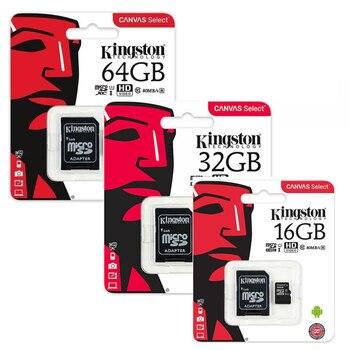 Tarjetas de memoria Kingston Class 10 Canvas choose micro SD con adaptador SD 16 ГБ, 32 ГБ Y 64 ГБ