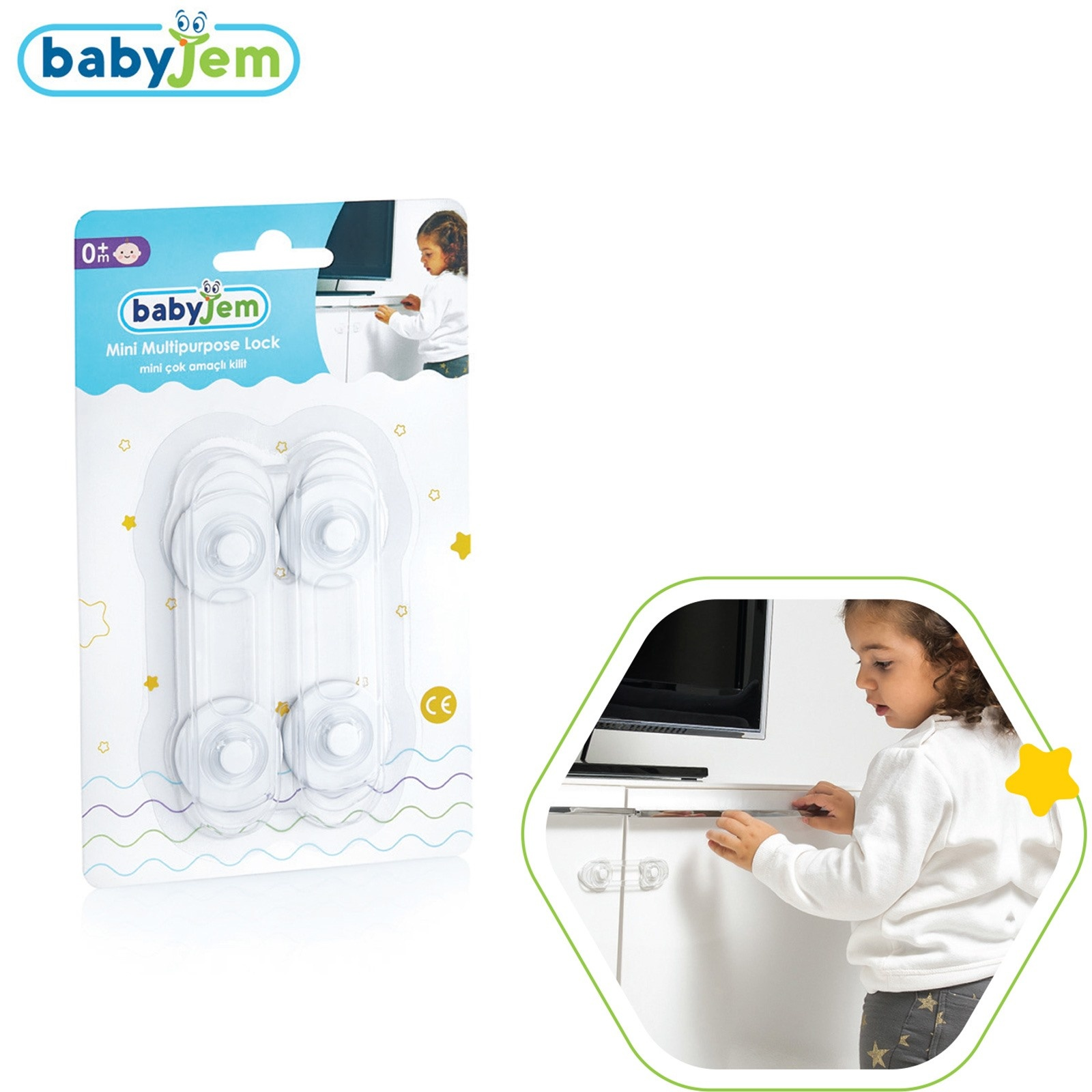 Ebebek Babyjem Mini Multipurpose Baby Lock 2 Pcs