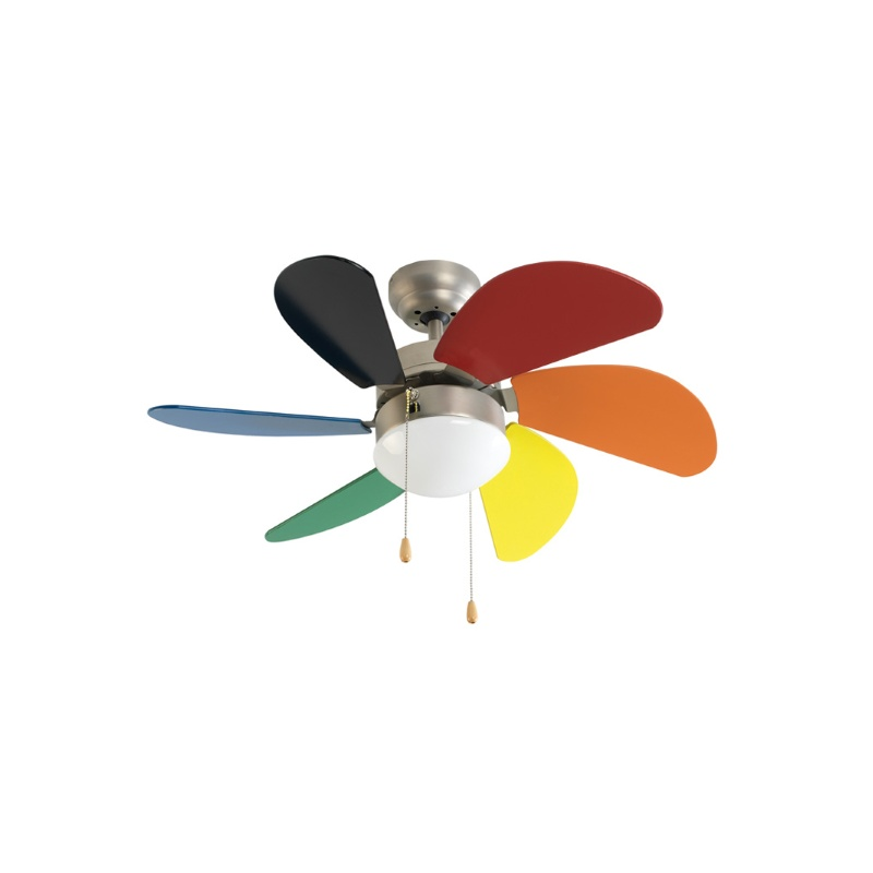 Ceiling Fan With Light Group FM VT-90 Junior 50W Multicolour (ø 80 Cm)