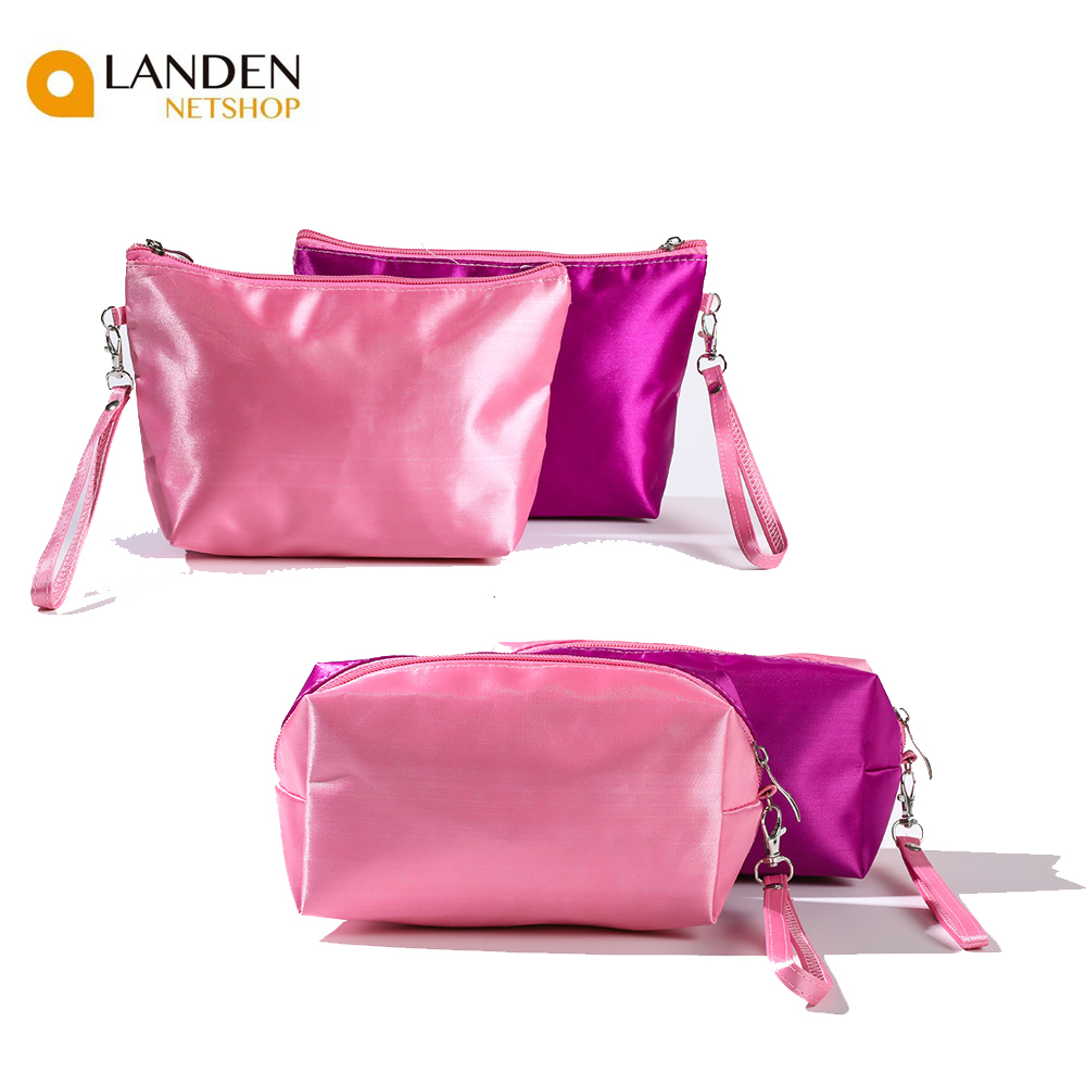 Made Handbag Cosmetic Makeup Organizer Travel Bags Multifunctional's Cosmetic Bag Matching Spot Colour