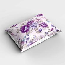 Fundas de almohada modernas rectangulares florales de rosas Vintage blancas moradas más fundas de almohada de estampado digital 3d fundas para sofá cama
