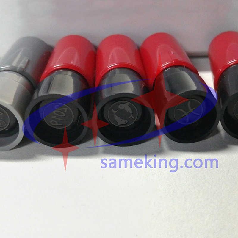 Sameking ختم ختم شعار مخصص صغير الحجم الأزرق/الأصفر/الأحمر/الأرجواني