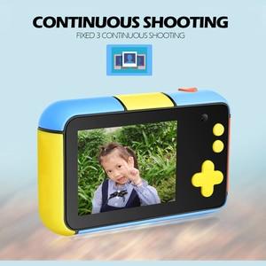 Image 3 - Mini aparat dziecięcy Mini 2.4 Cal Ful ekran HD podwójny obiektyw cyfrowy aparat zabawka wakacje zdjęcie wideo prezent na boże narodzenie aparat zabawka