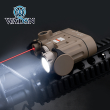 Wadsn softair懐中電灯ir lazer赤ドットレーザーDBAL D2多機能白色光dbal mkii戦術バッテリーケース武器ライト