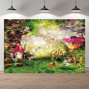 Image 3 - NeoBack Vinyl Enchanted Magic Forest Mushroom Baby Fairy Tale Land Princess Birthday Photocall Banner Photography Backgrounds