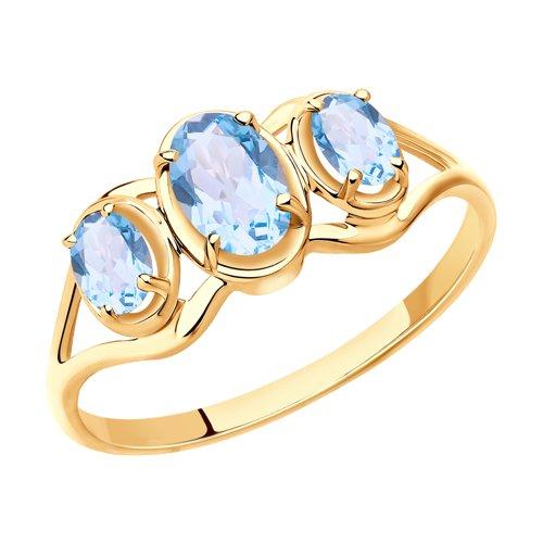 SOKOLOV Ring Gold With Topaz