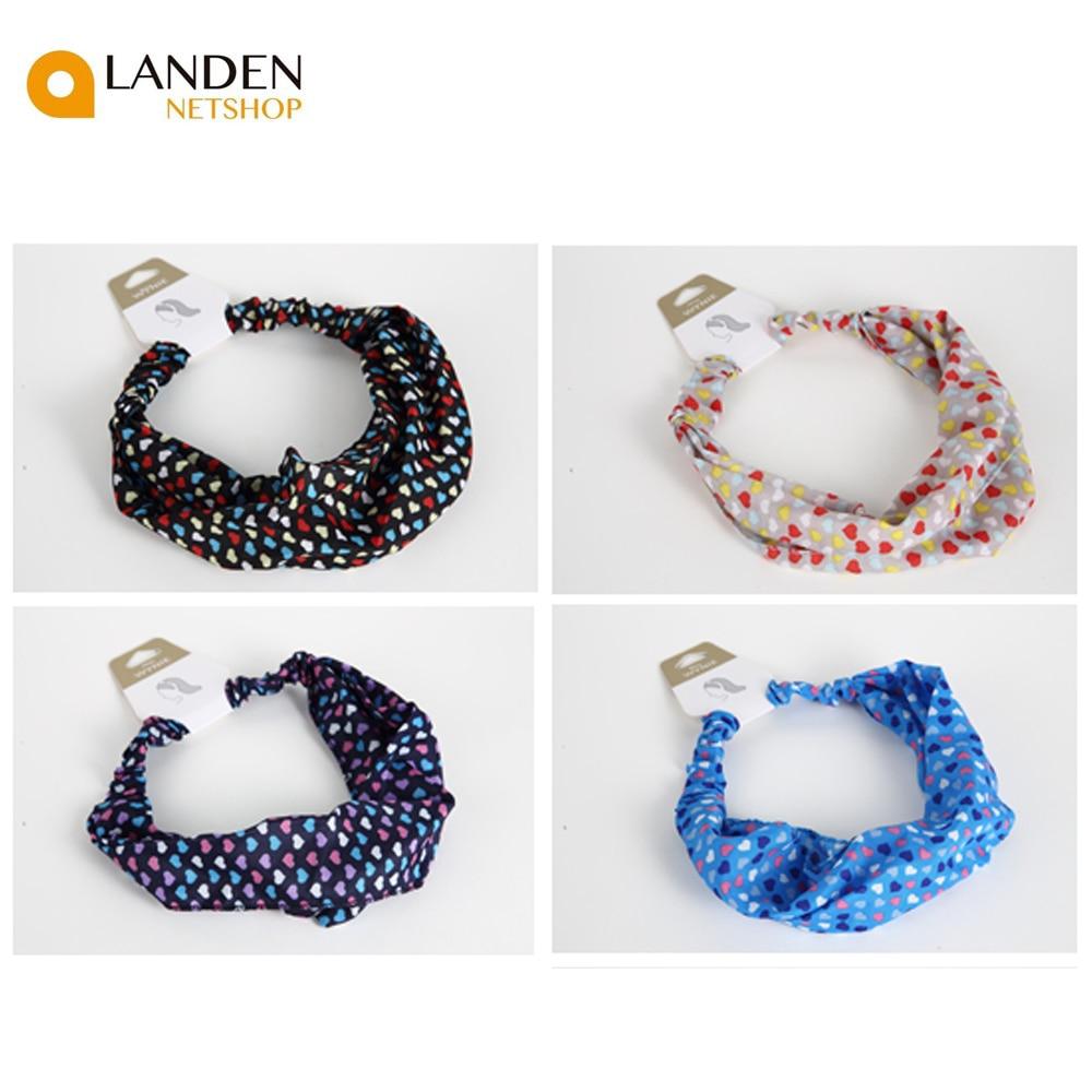 Korean Style Headbands Elastic Hair Bands For Women, Fashion Hair Accessories Fashion Style Color A Heart