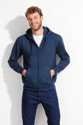SPORTS JACKET WITH ZIPPER AND HOODED-SEVEN KANGAROO MEN