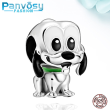 2020 New Style Animal Cute Dog 925 Sterling Silver DIY Charms Bead Fit Pandora 925 Original Charm Bracelet Beads Jewelry Making 925 sterling silver bead nossa senhora aparecida dangle charm beads fit pandora charms silver 925 original bracelet diy jewelry