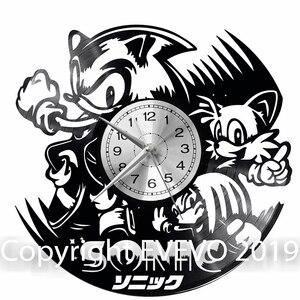 Звуковые настенные часы Виниловая пластинка Ретро часы ручной работы винтажный подарок стиль комнаты украшения дома отличный подарок часы