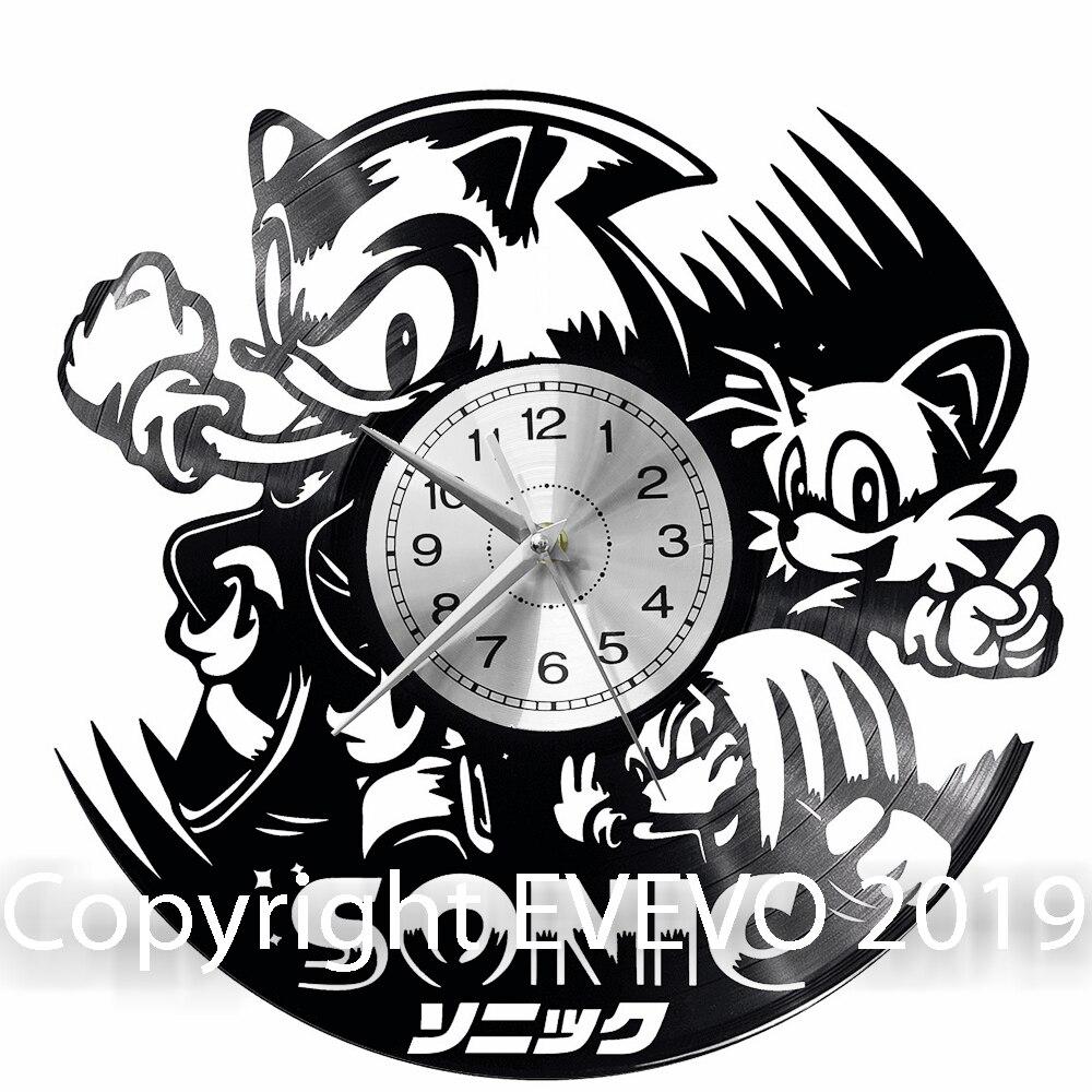 Sonic Wall Clock Vinyl Vinyl Record Retro Clock Handmade Vintage Gift Style Room Home Decorations Great Gift Clock