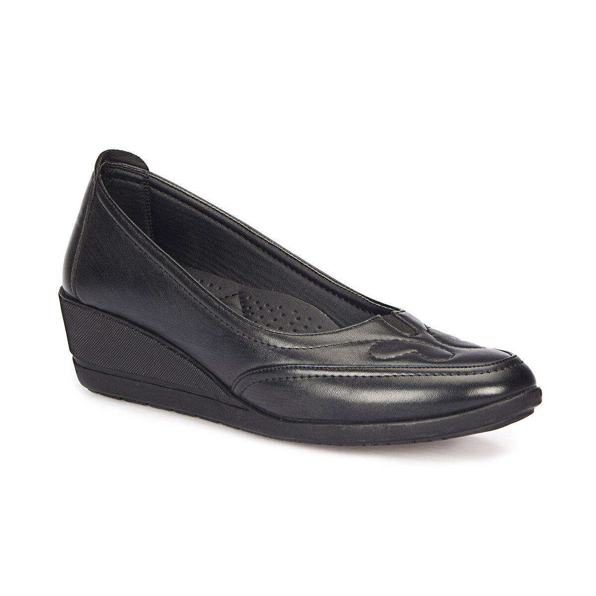 FLO 72.158045.Z Black Women Comfort Shoes Polaris