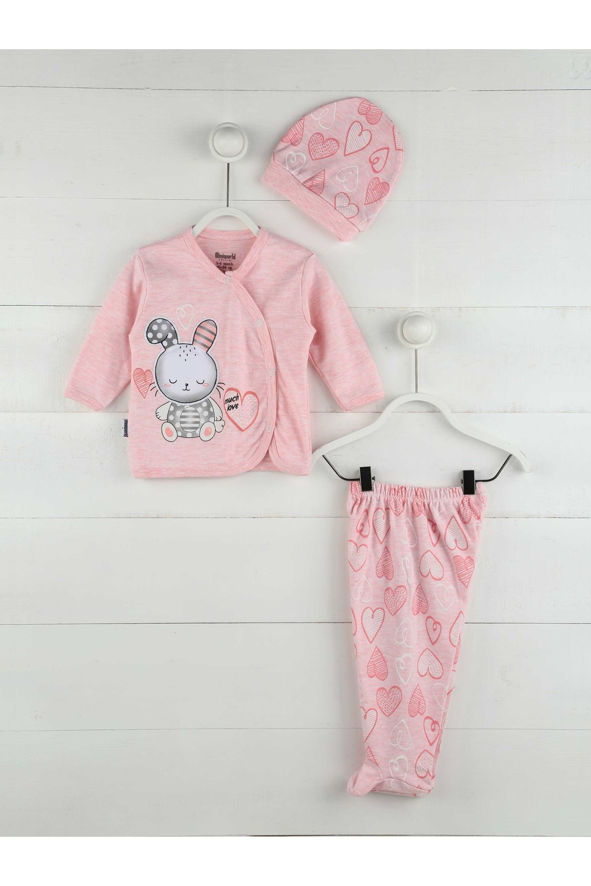 Infant Baby Girl Sets 2020 Spring Fall Green Tops T-Shirts + CartoonPants + Hat New Born Baby Girl Clothing Outfits 3 Pieces
