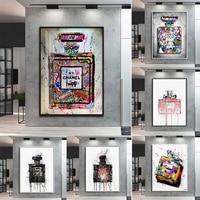Graffiti de la Calle Arte Cartel de la lona impresiones imágenes para la pared moderna de las mujeres de la moda dormitorio habitación decoración del hogar