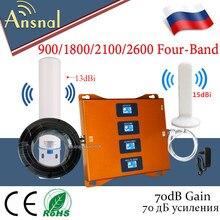 Grosse promo!! Amplificateur de Signal 4g Mobile à quatre bandes 900/1800/2100/2600mhz, répéteur de Signal GSM 2G 3G 4G DCS WCDMA LTE