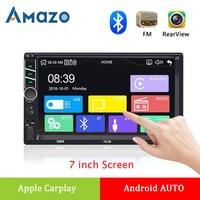 2 DIN Car Radio Carplay 7 Screen Stereo Autoradio Multimedia Player Android AUTO Bluetooth FM Radio Support Rear View Camera